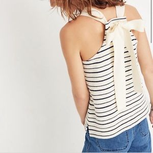 Madewell Camille Stripe Back Bow Knit Tank